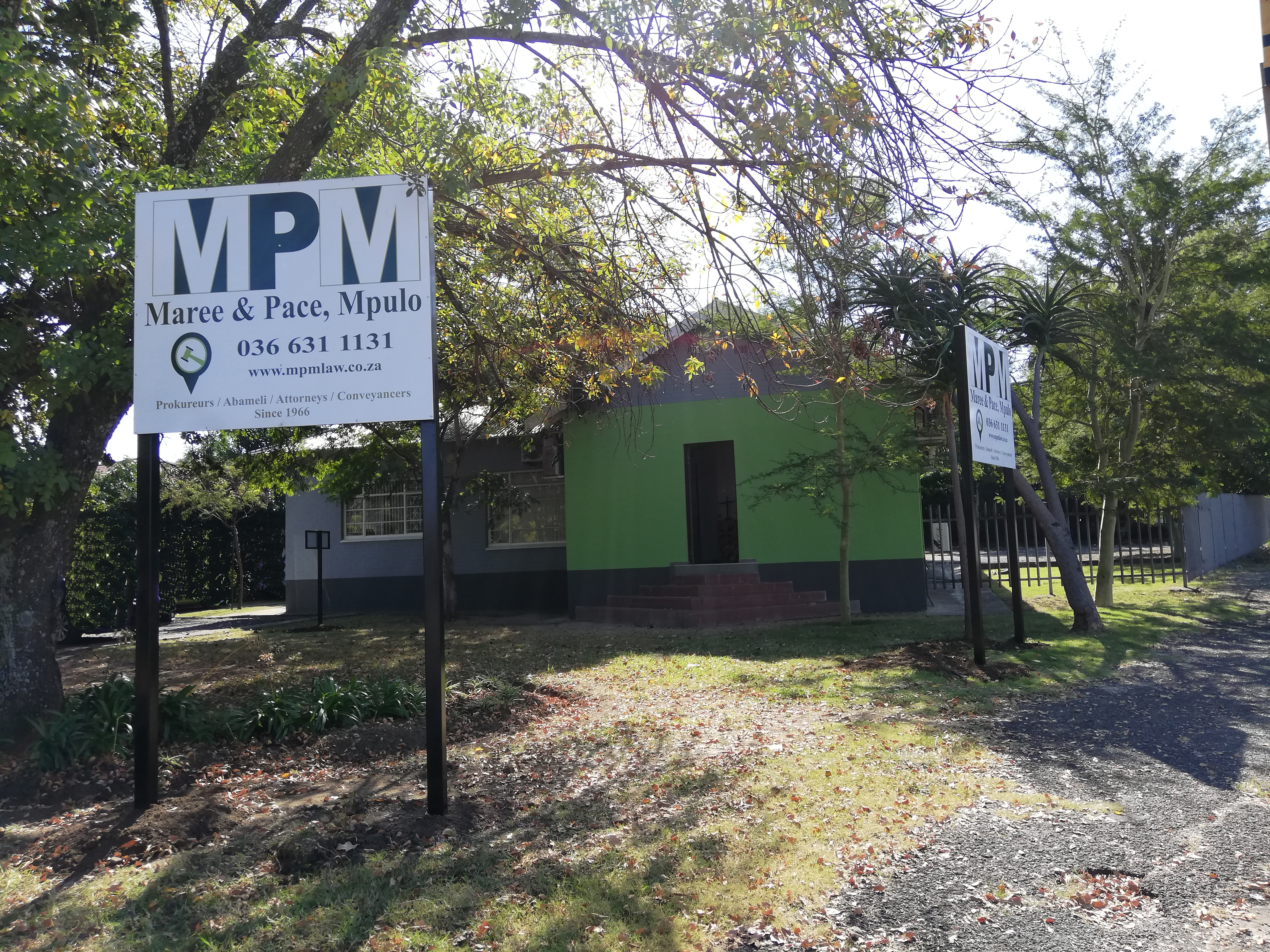 Front of Maree & Pace, Mpulo New Office